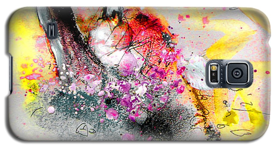 Pastel Painting Galaxy S5 Case featuring the painting Sunday By The Tree by Miki De Goodaboom