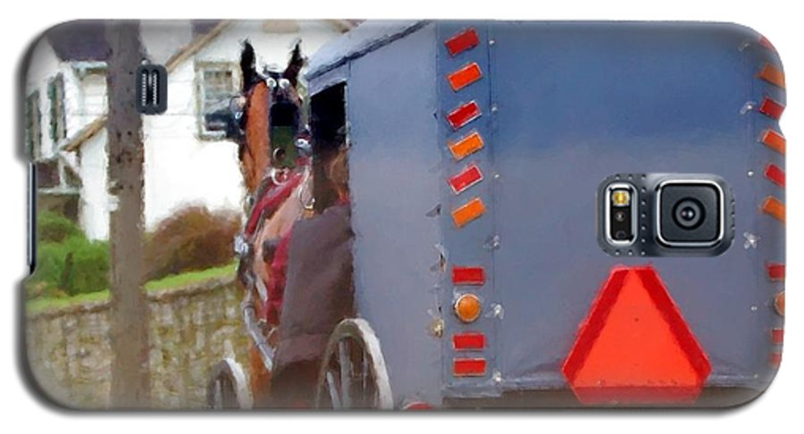 Amish Galaxy S5 Case featuring the photograph Sunday Courting by Debbi Granruth