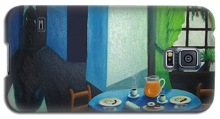 Breakfast Galaxy S5 Case featuring the painting Sunday Morning Breakfast by Nancy Mueller