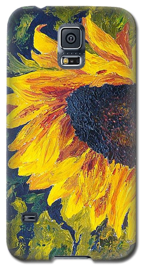 Galaxy S5 Case featuring the painting Sunflower by Tami Booher