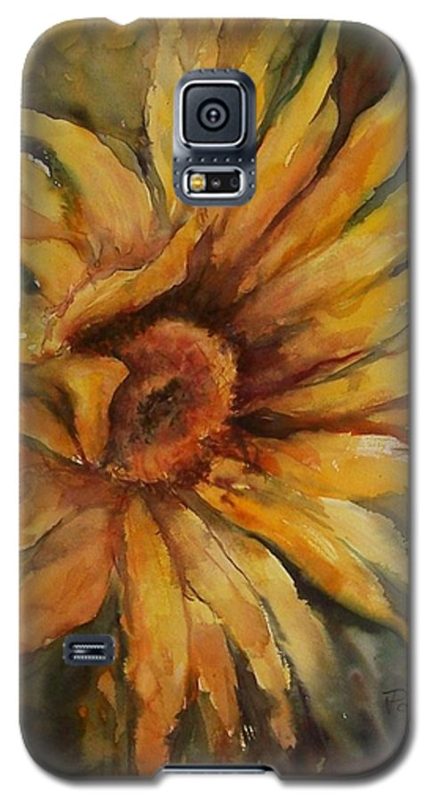 Sunflower Galaxy S5 Case featuring the painting Sunflower by Virginia Potter