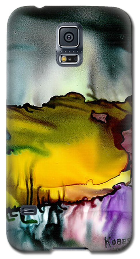 Abstract Galaxy S5 Case featuring the mixed media Sunless Sea by Susan Kubes