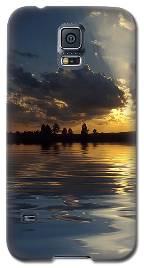 Sunset Galaxy S5 Case featuring the photograph Sunray Sunset by Jerry McElroy