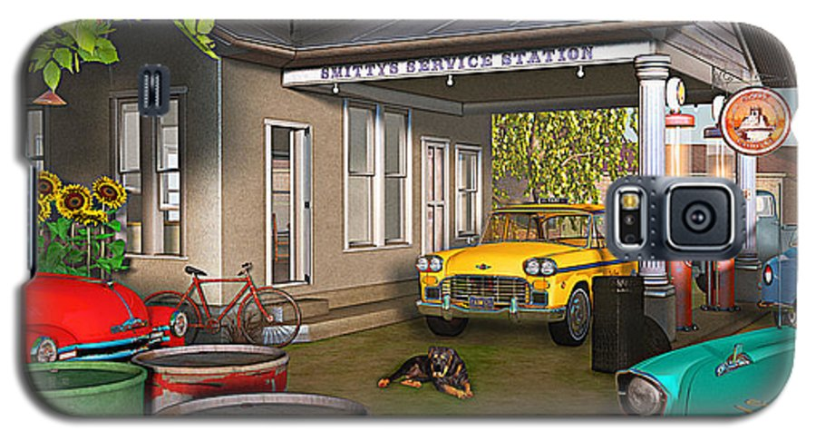 Antique Cars Galaxy S5 Case featuring the photograph Sunrise At Smittys by Peter J Sucy