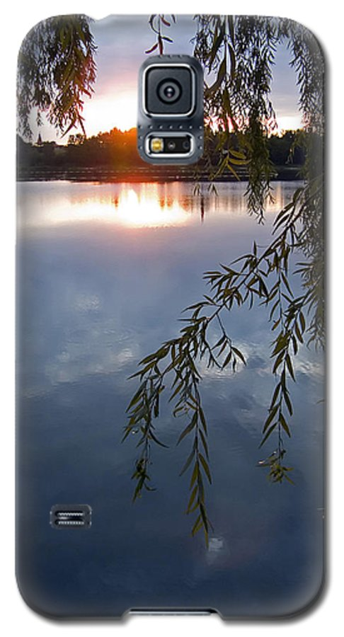 Nature Galaxy S5 Case featuring the photograph Sunset by Daniel Csoka