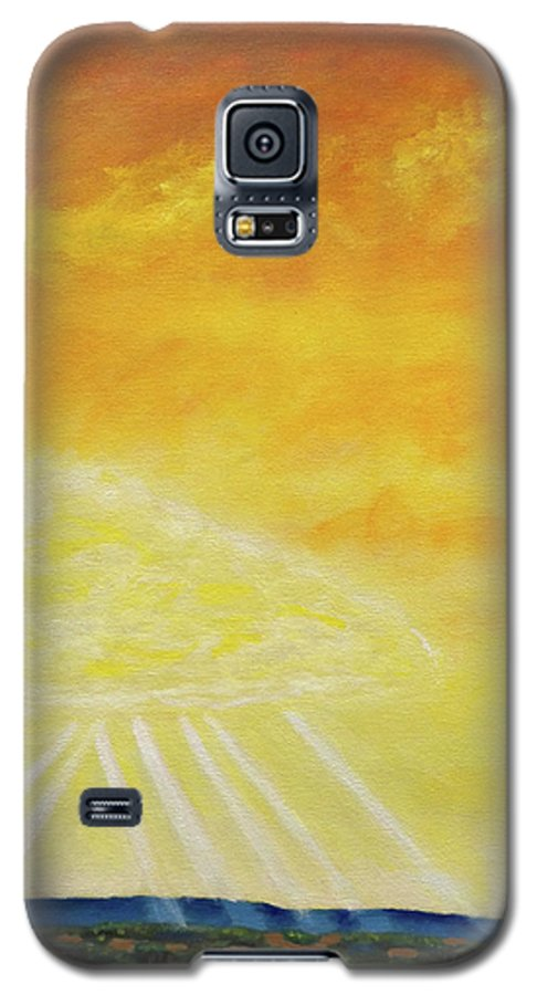 Landscape Galaxy S5 Case featuring the painting Super Seven by Brian Commerford