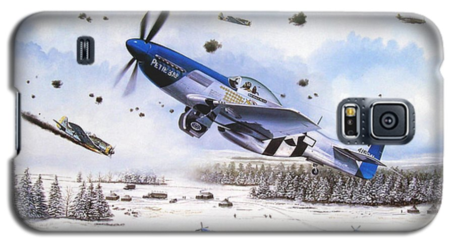 Aviation Galaxy S5 Case featuring the painting Surprise At Asch by Marc Stewart