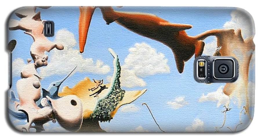 Surreal Galaxy S5 Case featuring the painting Surreal Friends by Dave Martsolf