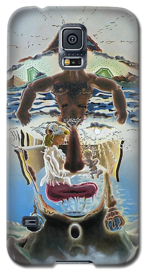 Surreal Galaxy S5 Case featuring the painting Surreal Memories by Dave Martsolf