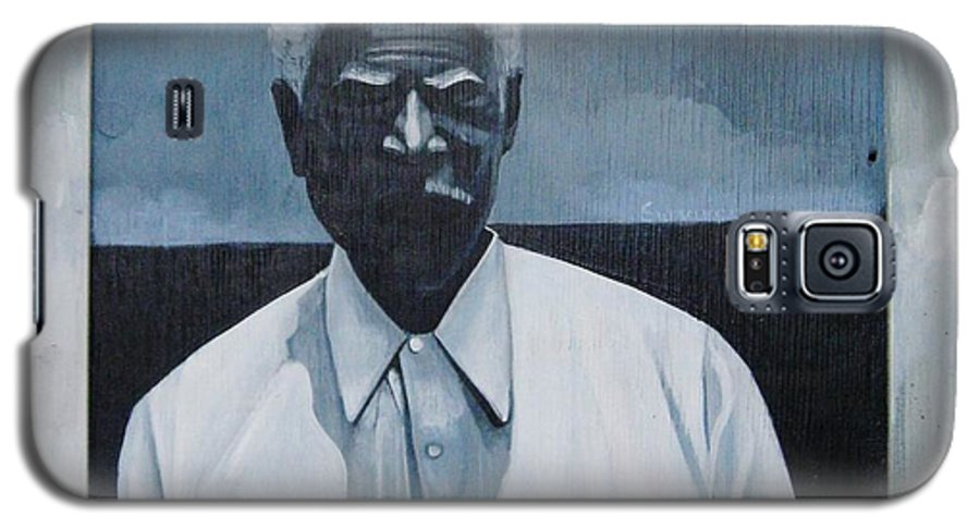 Man Galaxy S5 Case featuring the painting Survivor James by Joyce Owens