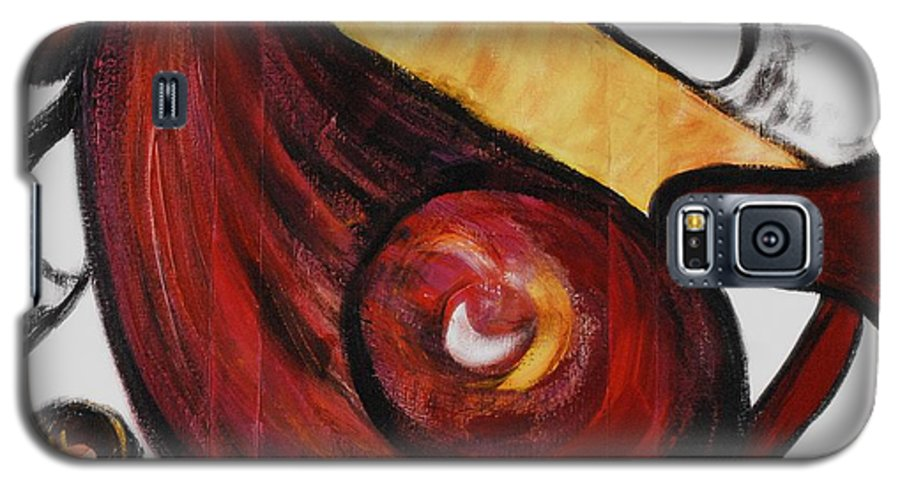 Survivor Galaxy S5 Case featuring the painting Survivor by Nadine Rippelmeyer
