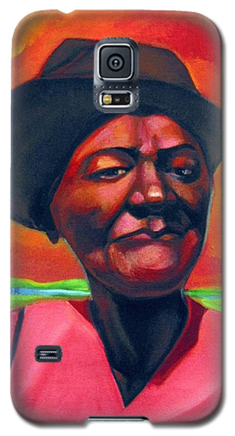 African Galaxy S5 Case featuring the painting Survivor Spirit Mollie by Joyce Owens