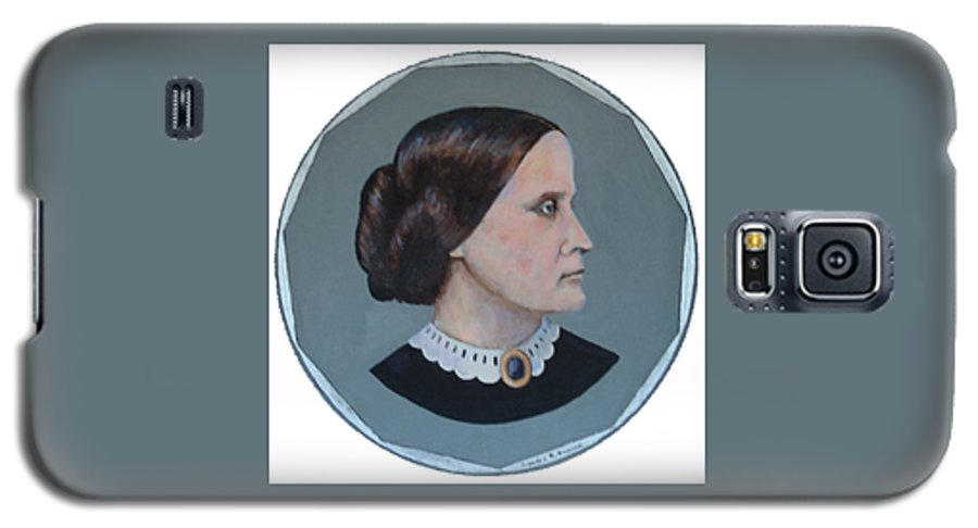 Susan B. Anthony Galaxy S5 Case featuring the painting Susan B Anthony Coin by Art Nomad Sandra Hansen