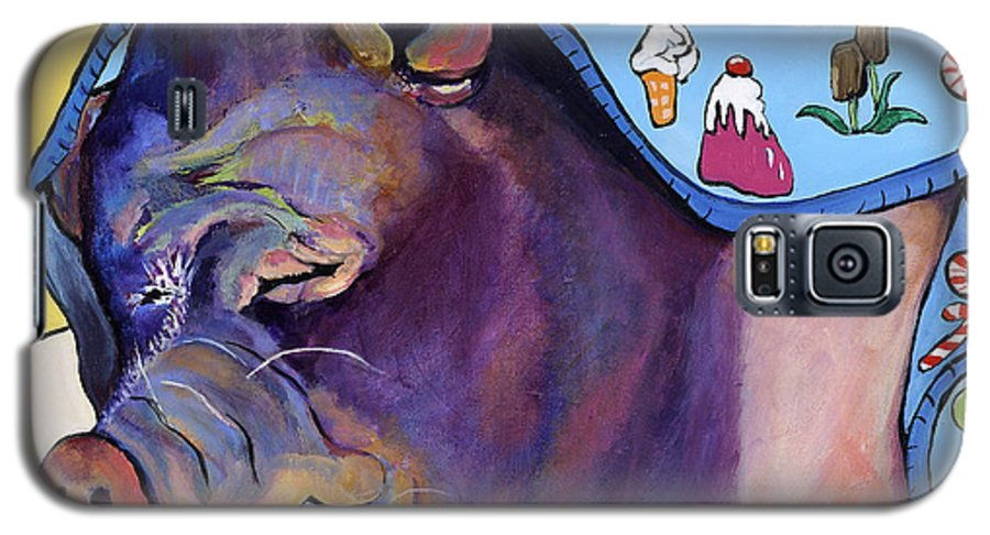 Farm Animal Galaxy S5 Case featuring the painting Sweet Dreams by Pat Saunders-White
