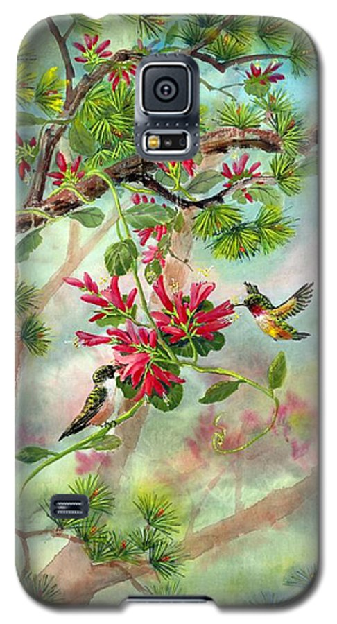 Hummingbirds Galaxy S5 Case featuring the painting Sweet Journey by Eileen Fong