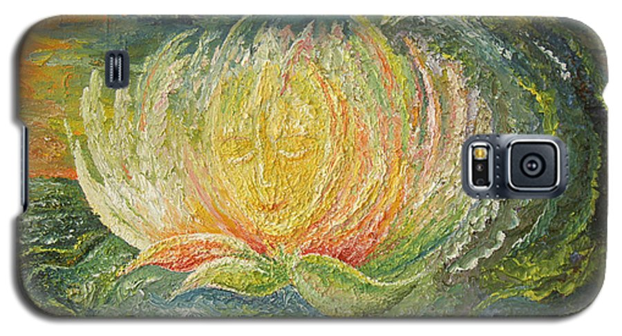 Flower Galaxy S5 Case featuring the painting Sweet Morning Dream by Karina Ishkhanova