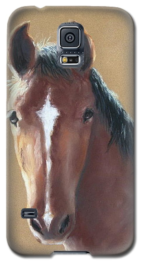 Horse Galaxy S5 Case featuring the painting Sweetie by Carol Mueller