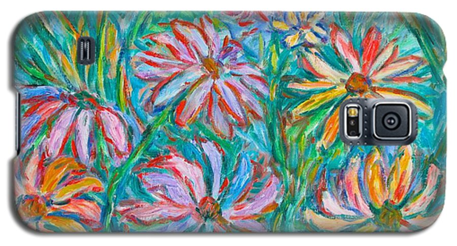 Impressionist Galaxy S5 Case featuring the painting Swirling Color by Kendall Kessler