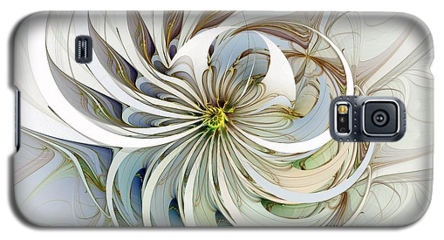 Digital Art Galaxy S5 Case featuring the digital art Swirling Petals by Amanda Moore