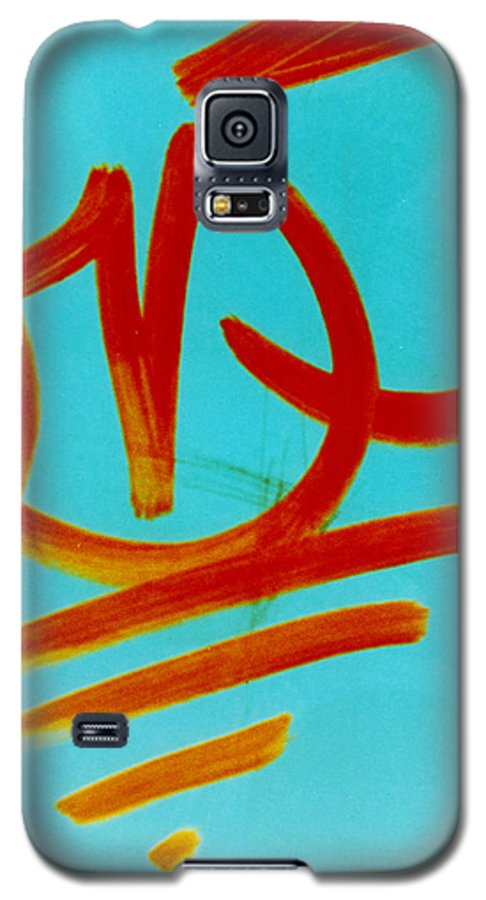 Abstract Galaxy S5 Case featuring the photograph Symbols by David Rivas
