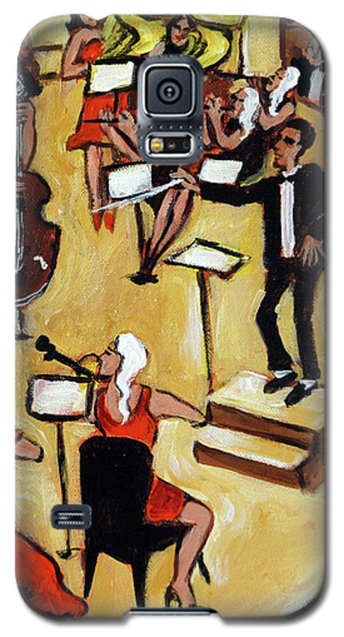 Carnegie Hall Orchestra Galaxy S5 Case featuring the painting Symphony by Valerie Vescovi