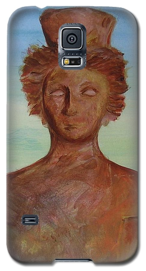 Icon Galaxy S5 Case featuring the painting Tanit Mythical Godess Of Ibiza by Lizzy Forrester