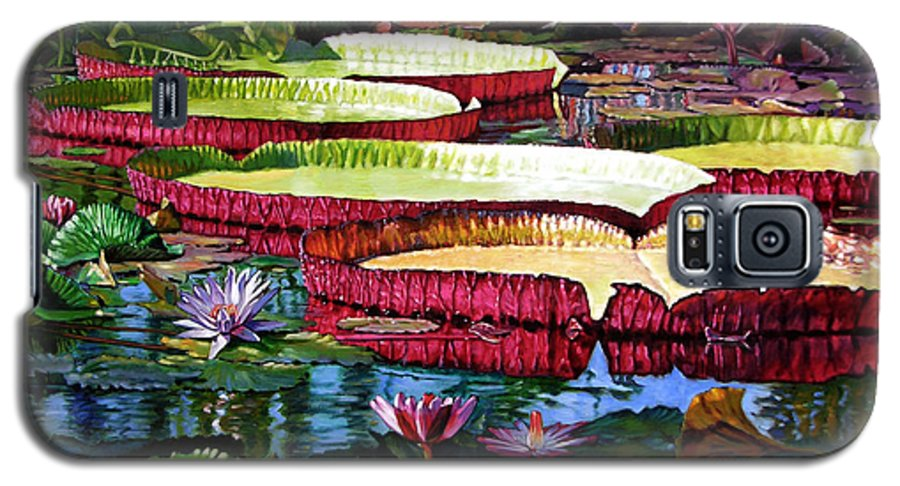 Landscape Galaxy S5 Case featuring the painting Tapestry Of Color And Light by John Lautermilch
