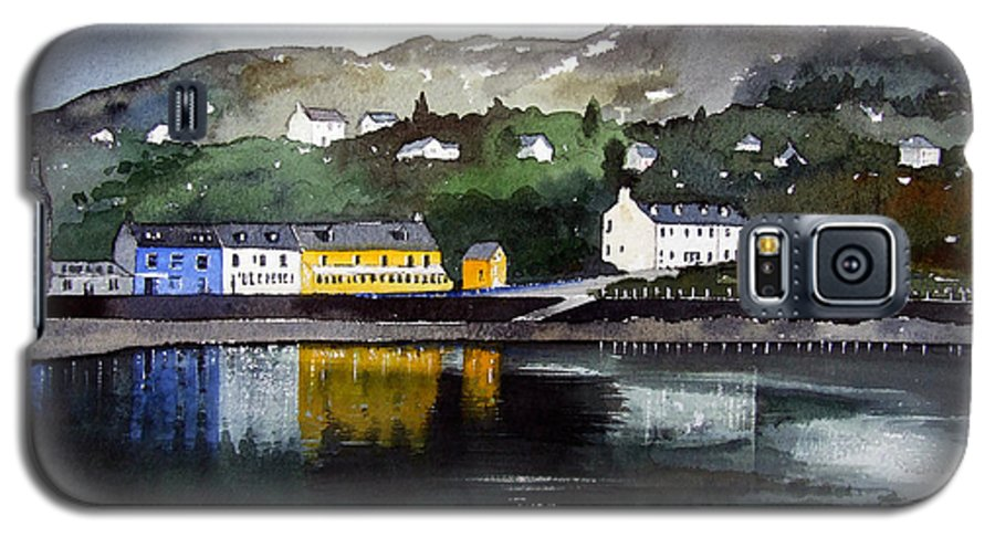 Scottish Fishing Harbour Galaxy S5 Case featuring the painting Tarbert Reflections by Paul Dene Marlor
