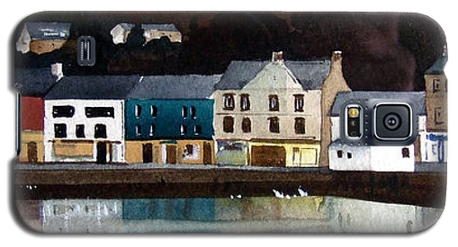 Landscape Galaxy S5 Case featuring the painting Tarbert Reflections by Paul Dene Marlor