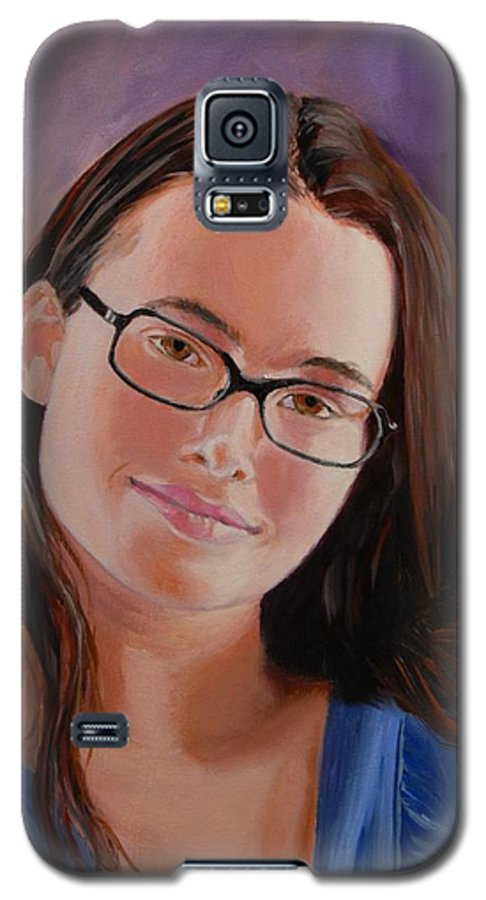 Portrait Galaxy S5 Case featuring the painting Taryn Snow by Quwatha Valentine