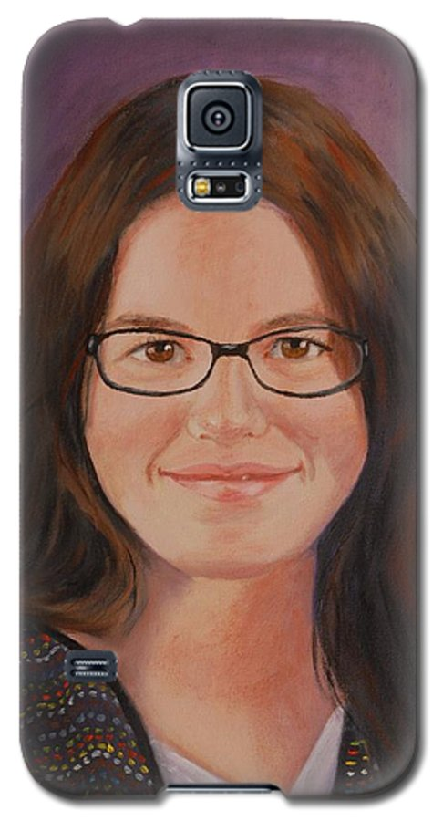 Portrait Galaxy S5 Case featuring the painting Taylor Snow by Quwatha Valentine