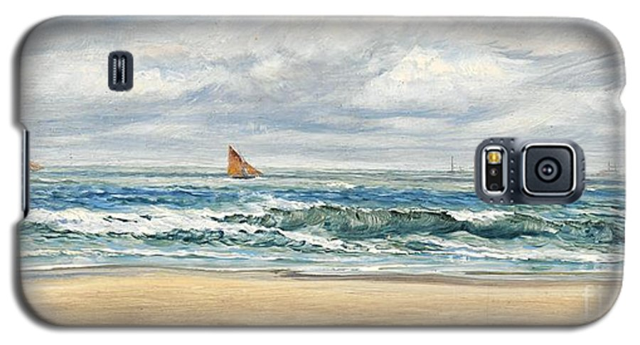 Seascape Galaxy S5 Case featuring the painting Tenby by John Brett