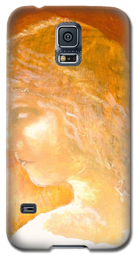 Angel Galaxy S5 Case featuring the painting Tender Mercy by J Bauer
