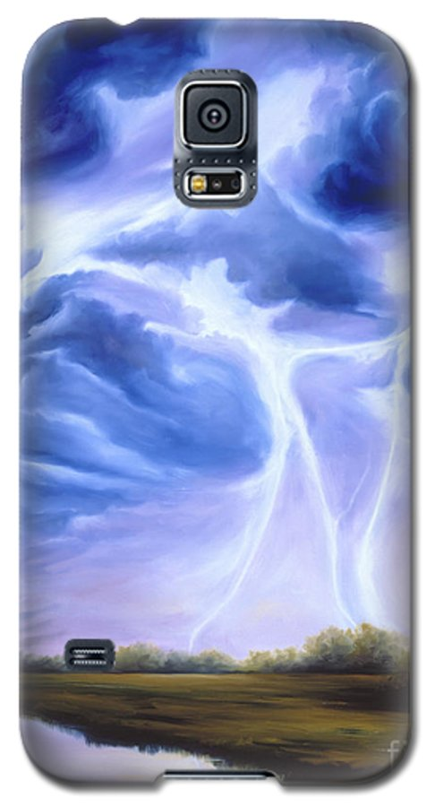 Marsh Galaxy S5 Case featuring the painting Tesla by James Christopher Hill
