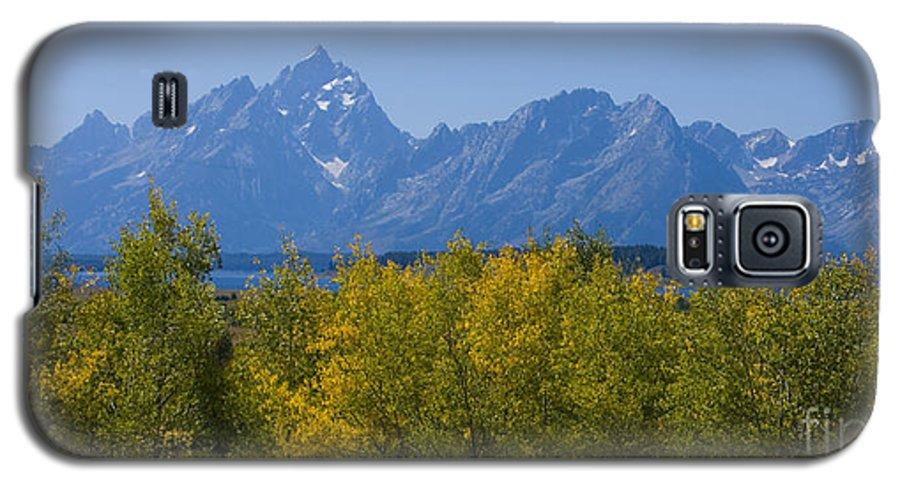 Teton Galaxy S5 Case featuring the photograph Teton Range by Idaho Scenic Images Linda Lantzy