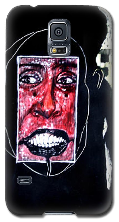 Smile Galaxy S5 Case featuring the mixed media That Certian Smile by Chester Elmore