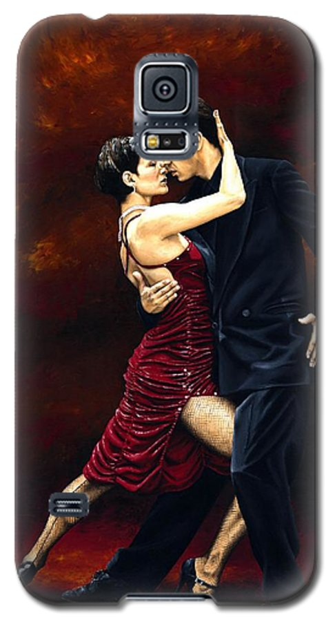 Tango Galaxy S5 Case featuring the painting That Tango Moment by Richard Young