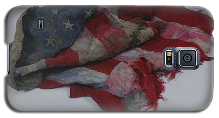 911 Galaxy S5 Case featuring the photograph The 9 11 W T C Fallen Heros American Flag by Rob Hans