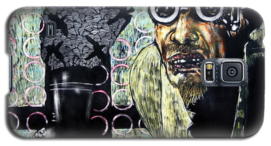 Scratchboard Galaxy S5 Case featuring the mixed media The Alchemist by Chester Elmore