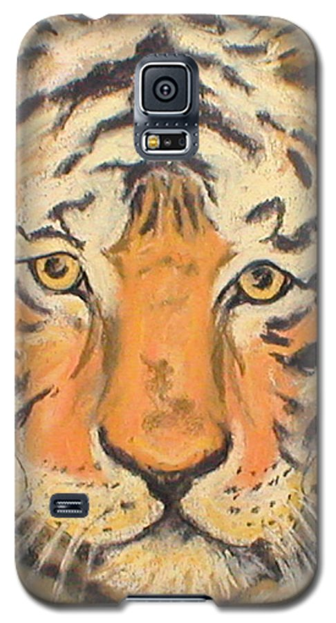 Pastel Galaxy S5 Case featuring the drawing The Amber Stare by Cori Solomon