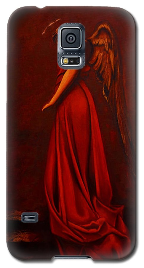 Giorgio Galaxy S5 Case featuring the painting The Angel Of Love by Giorgio Tuscani