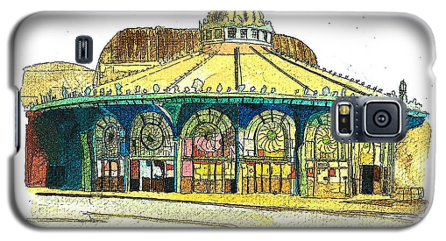 Asbury Art Galaxy S5 Case featuring the painting The Asbury Park Casino by Patricia Arroyo