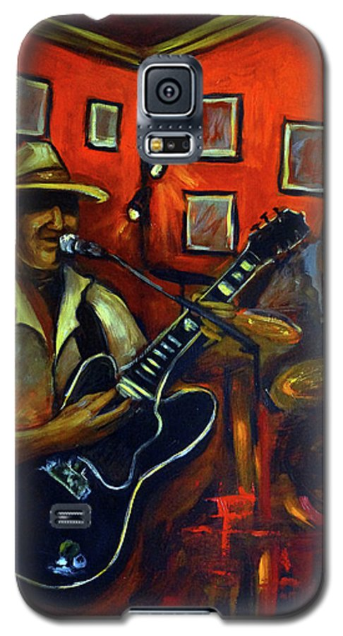 Blues Galaxy S5 Case featuring the painting The Back Room by Valerie Vescovi