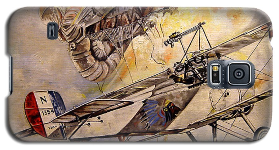 Military Galaxy S5 Case featuring the painting The Balloon Buster by Marc Stewart