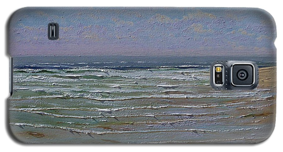 Seascape Galaxy S5 Case featuring the painting The Beachcomber by Frank Wilson