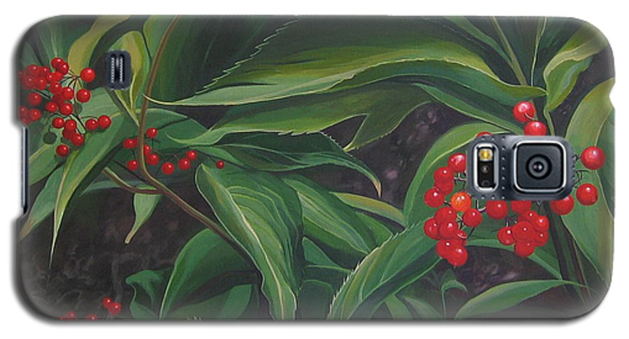 Berries Galaxy S5 Case featuring the painting The Berries On Guanella Pass by Hunter Jay