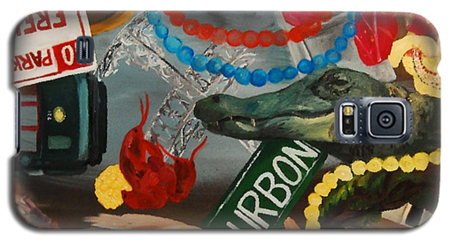 Louisiana Galaxy S5 Case featuring the painting The Big Easy by Lauren Luna