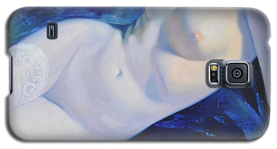 Art Galaxy S5 Case featuring the painting The Blue Ice by Sergey Ignatenko