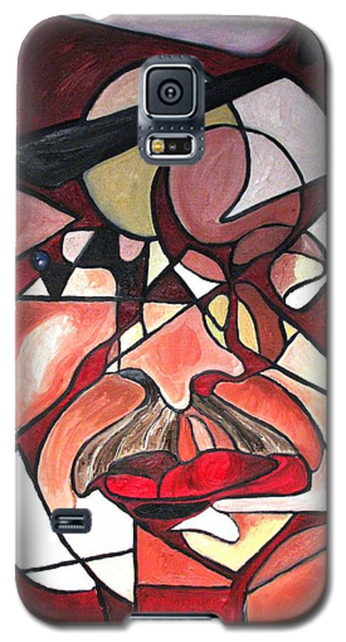 Abstract Galaxy S5 Case featuring the painting The Brain Surgeon by Patricia Arroyo