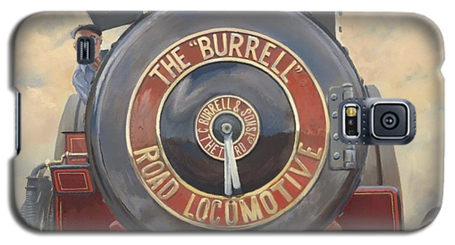 Traction Engine Galaxy S5 Case featuring the painting The Burrell Road Locomotive by Richard Picton